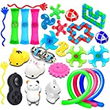 nobasco 28 Pack Sensory Toys Set, Fidget Toys Pack Stress Relief Hand Toys for Adults Kids - Perfect for ADHD ADD Anxiety Autism, Toy Assortment for Boys Girls