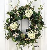 White Hydrangea Everyday Wreath