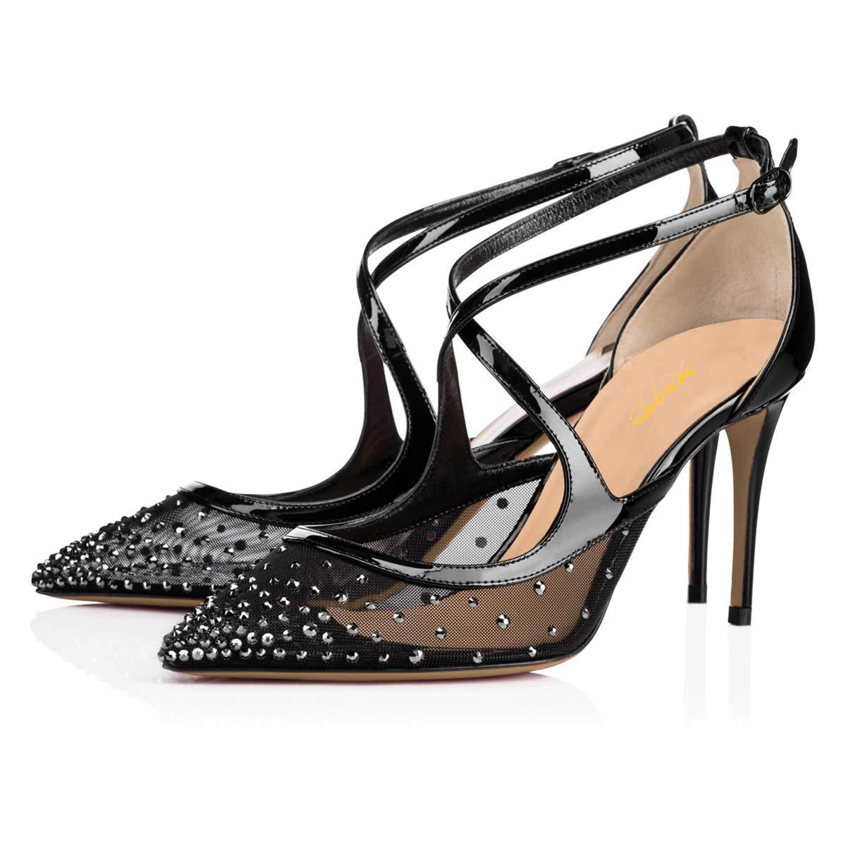 09c67061a1 Amazon.com   XYD Women Stylish Crisscross Strap High Heel Pumps ...
