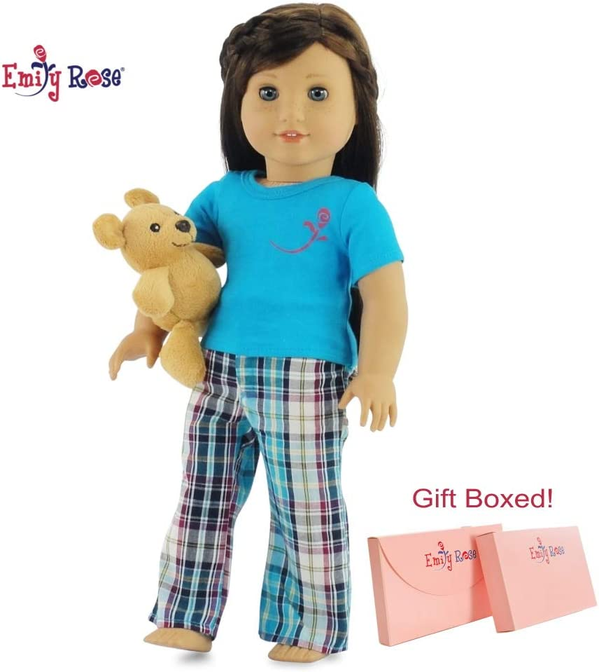 Bear Star Pattern Pajamas Sleepwear Fit For 18/'/'American Girl Doll Clothes Gift