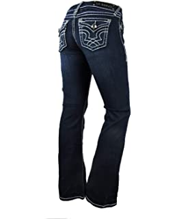Amazon.com: La Idol - Pantalones vaqueros para mujer (talla ...