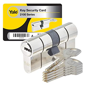 Yale yc2100 - Cerradura de cilindro de emergencia, YC2100 DB 30X30 NI: Amazon.es: Bricolaje y herramientas