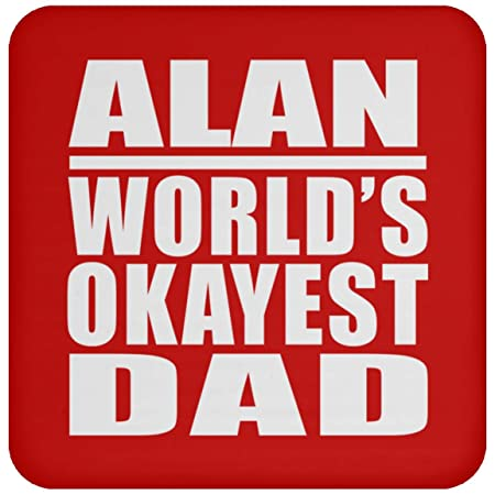 Alan Worlds Okayest Dad - Drink Coaster Red Posavasos para ...
