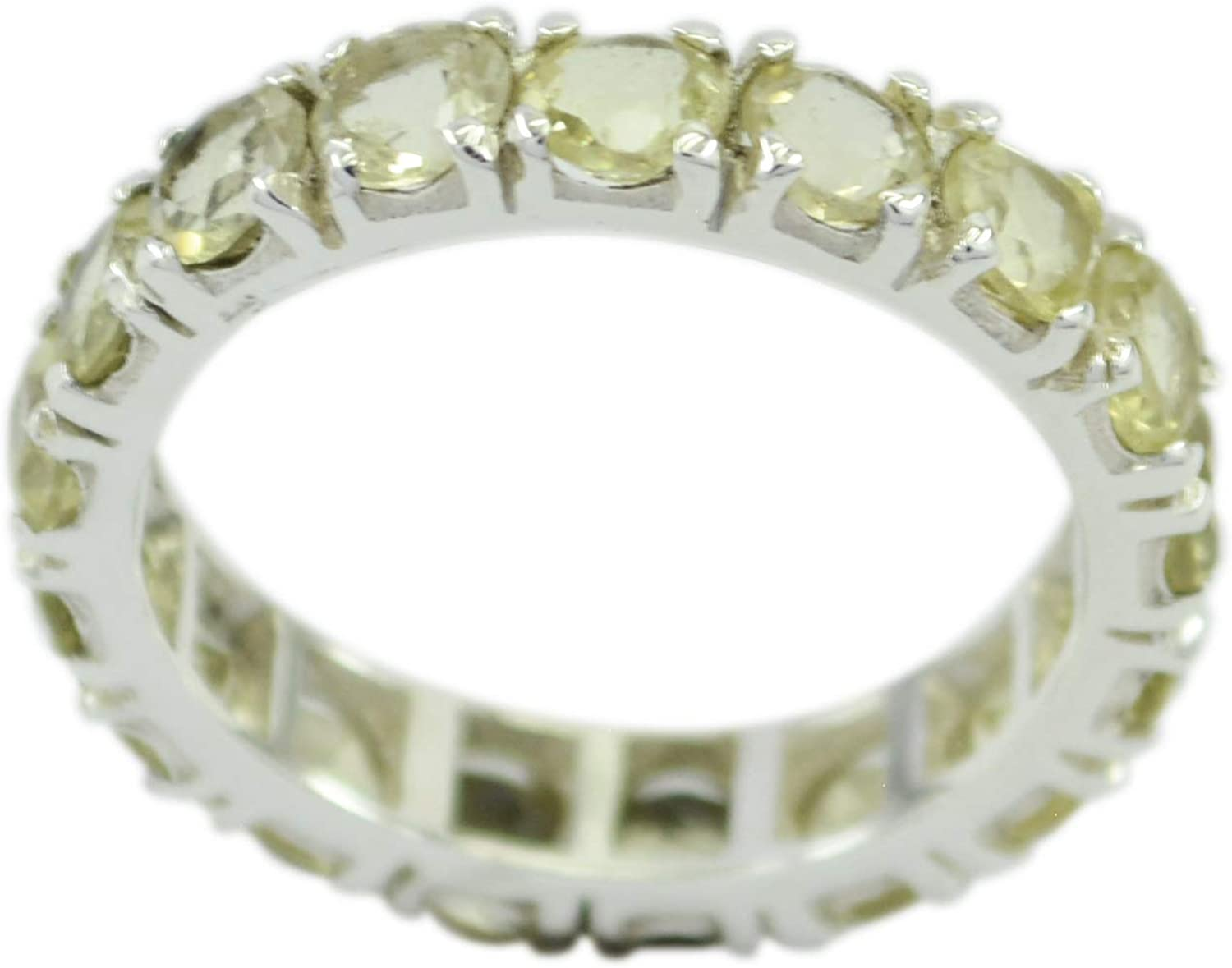 Citrine Yellow Gems Silver Ring Jaipur 925 Sterling Silver Attractive Natural Yellow Ring