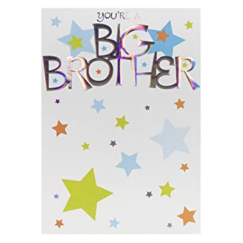hallmark new baby card for brother i m a big brother medium