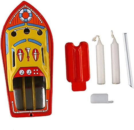 Vintage Pop Pop Boat Steam Candle Powered Metal Tin Toys Adult Collectibles