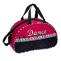 Dasha Dance Girls Pink Zebra Stripe Half Moon Bag Pink or Fuschia