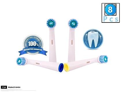 FLM Precision Clean EB17C - Cabezal de recambio para cepillo de dientes eléctrico compatibles con Braun