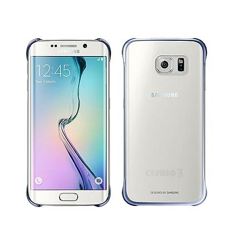 Samsung Clear - Funda oficial para Samsung Galaxy S6 Edge, color negro- Versión Extranjera