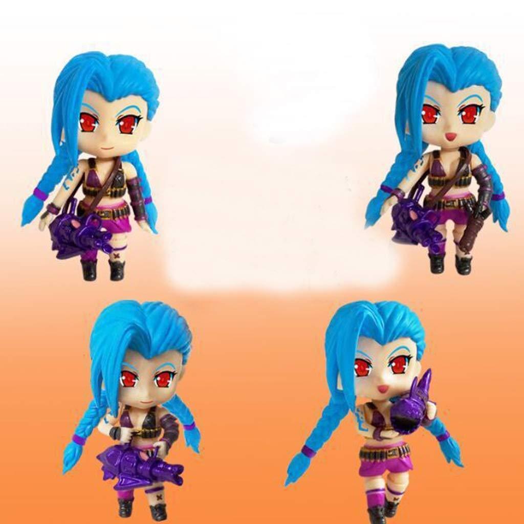 te hará satisfecho ZEQUAN Modelo de Juguete Juego en en en Movimiento Personaje héroe Liga Juguete Estatua decoración Recuerdo   coleccionables   artesanías LOL   huir Lolita   Jinx 9CM  punto de venta