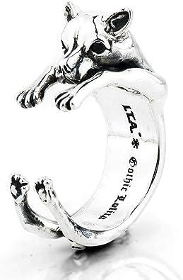 Anello animali cane yorkshire oro-argento-nero regolabile
