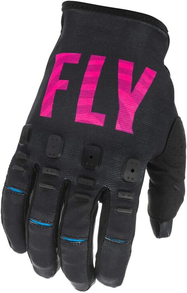 Medium Fly Racing 2021 Youth Kinetic SE Gloves Black//Pink//Blue