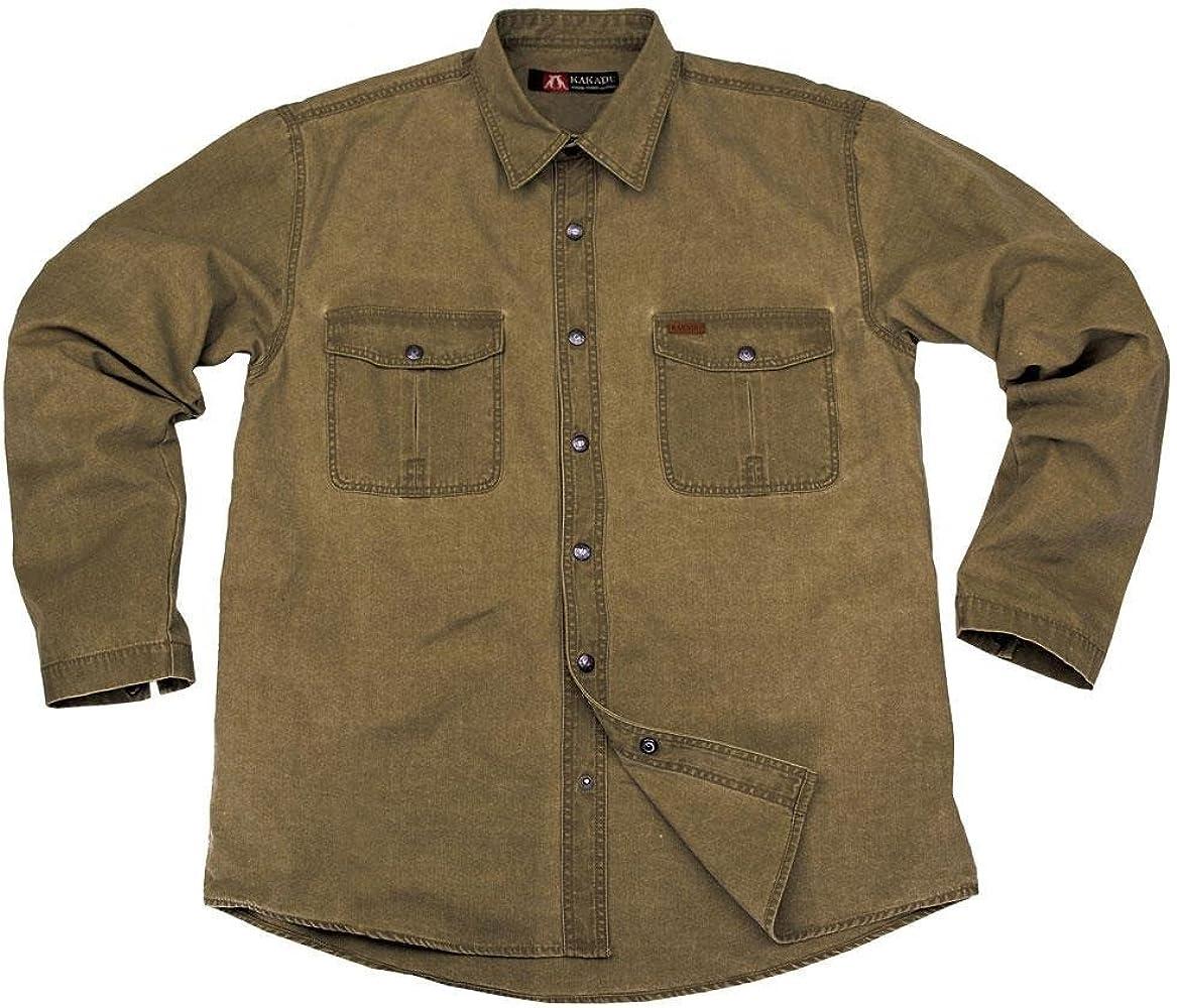 Kakadu Australia - Camisa Casual - Básico - para Hombre Caqui Small: Amazon.es: Ropa y accesorios