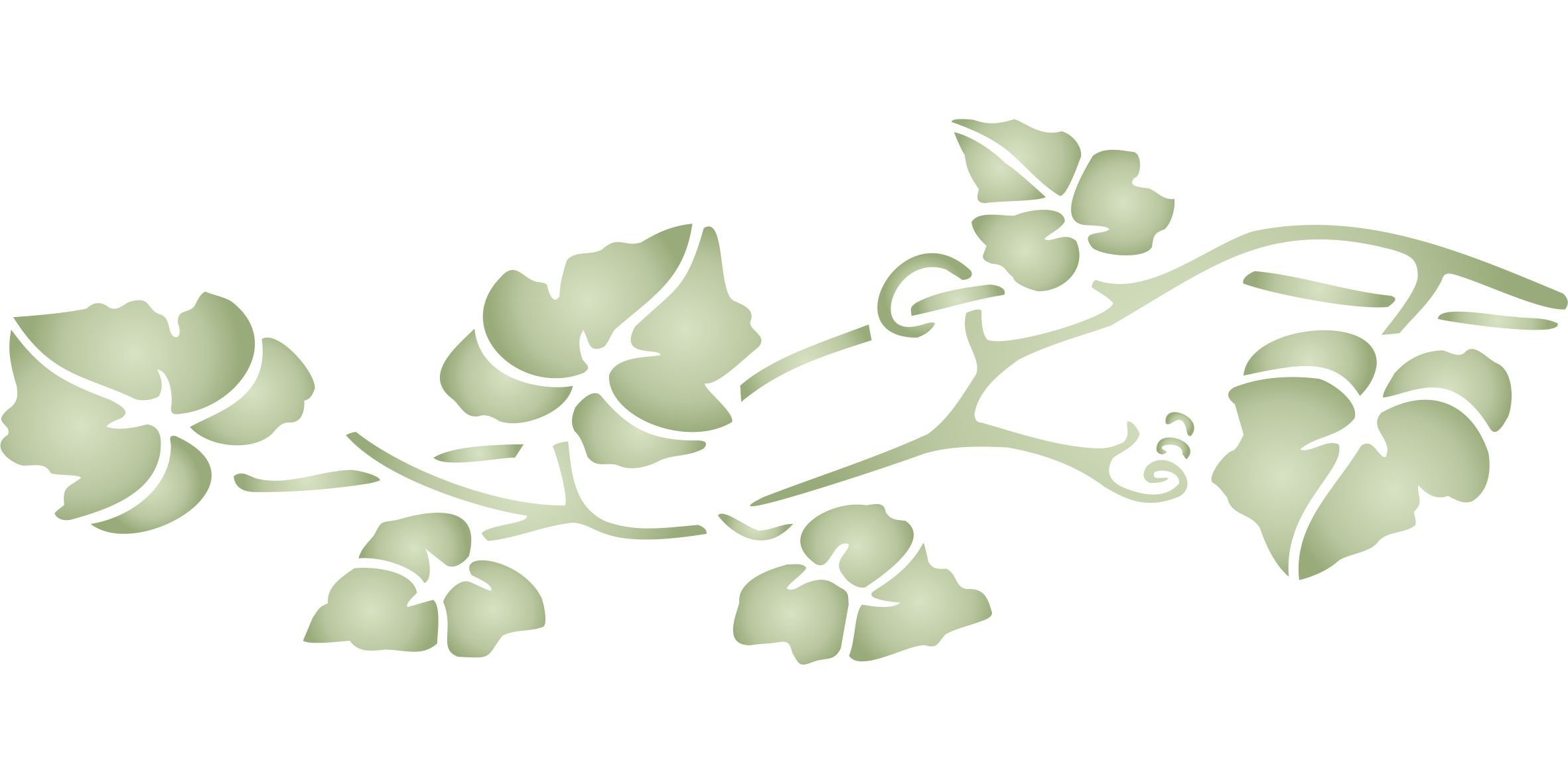 Vine Stencil - (size 13''w x 4.5''h) Reusable Wall Stencils for Painting - Best Quality Wall Border Leaf Stencil Ideas - Use on Walls, Floors, Fabrics, Glass, Wood, Terracotta, and More...