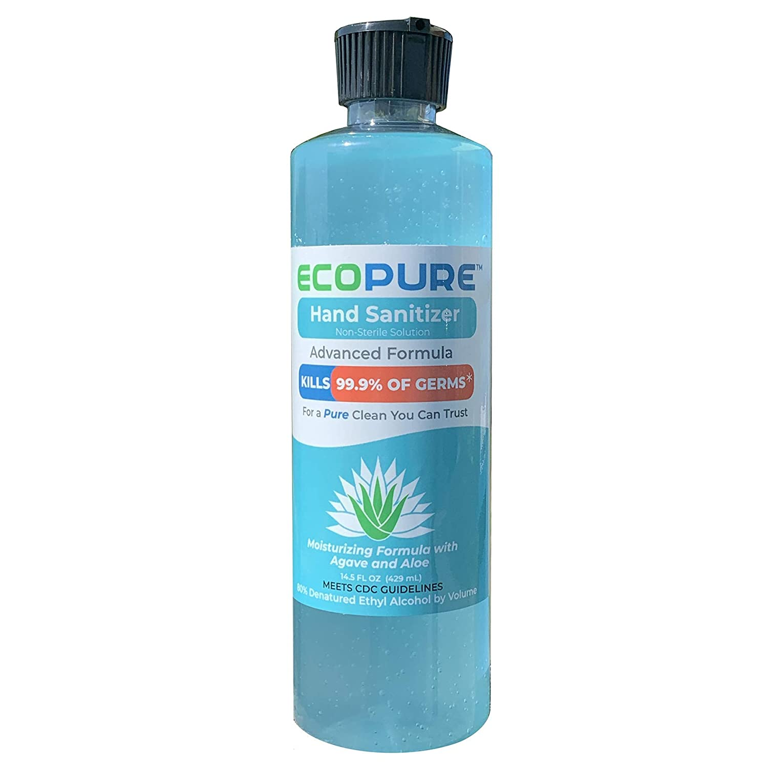 ECOPURE Hand Sanitizer (Agave and Aloe Scented), 14.5 fl. oz.
