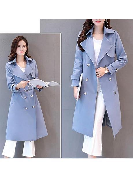 889b923f6546 MatchLife Femme Manteau Habillé Trench-Coat Chaud Longue Grandes Tailles  EUXS-3XL Veste Feminine Ceinturée  Amazon.fr  Vêtements et accessoires