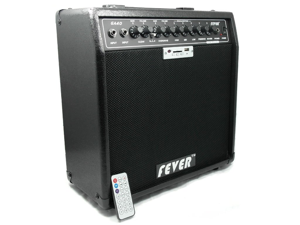Fever GA-40 40 Watts Guitar Combo Amplifier with USB and SD Audio Interface with Remote Control