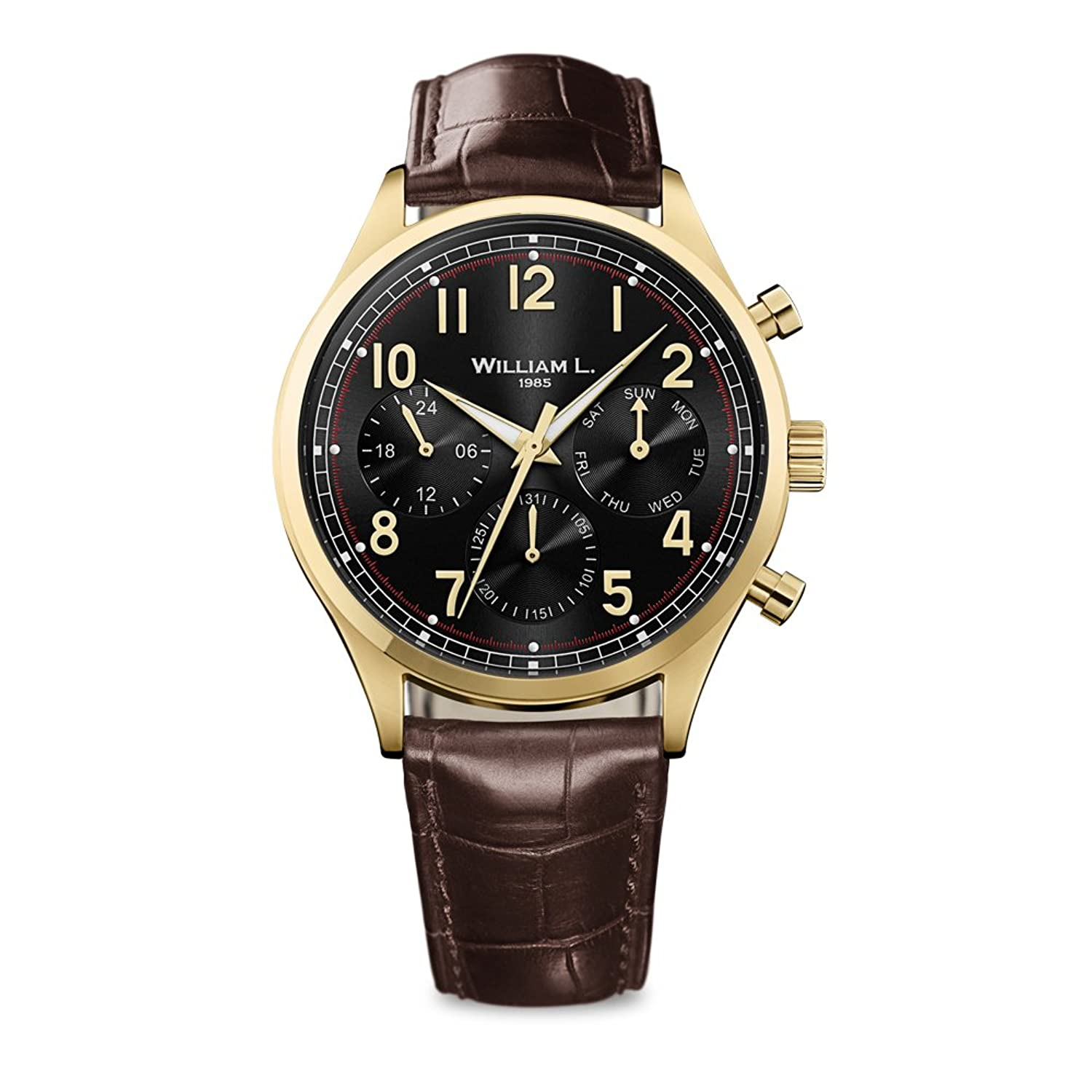 William L. Mens-Armbanduhr WLOJ03NROJCM