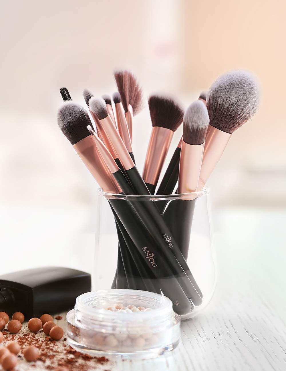 Anjou Makeup Brush Set 24 Pcs Premium Professional Kabuki Foundation Face Powder Blush Eyeshadow
