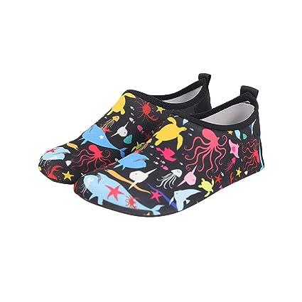 Bmeigo Zapatos de Agua Calcetines Descalzos de Aguamarina de ...