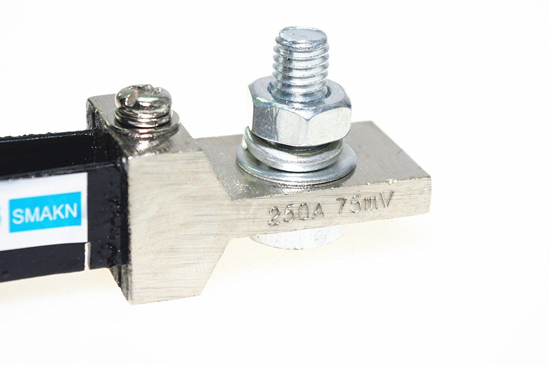 Smakn Fl 2 250a 75mv Dc Current Shunt Resistor For Amp Dual Digital Led Voltmeter Ammeter Power Meter 090v 100a Ampere Panel Home Improvement