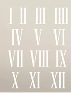 Amazon Com Roman Numerals Stencil Template Reusable Stencil With