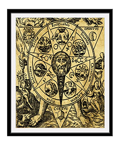 QG Art Alchemy Occult Canvas Poster for Wall Decoration 20 x 25cm,Stretched and Ready to (Alchemy Canvas)