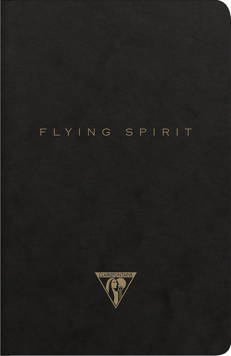 Clairefontaine 103536C Flying Spirit Carnet piqu/é textile 14,8 x 21 cm 96 pages lign/ées Ivoire 90 g Kraft