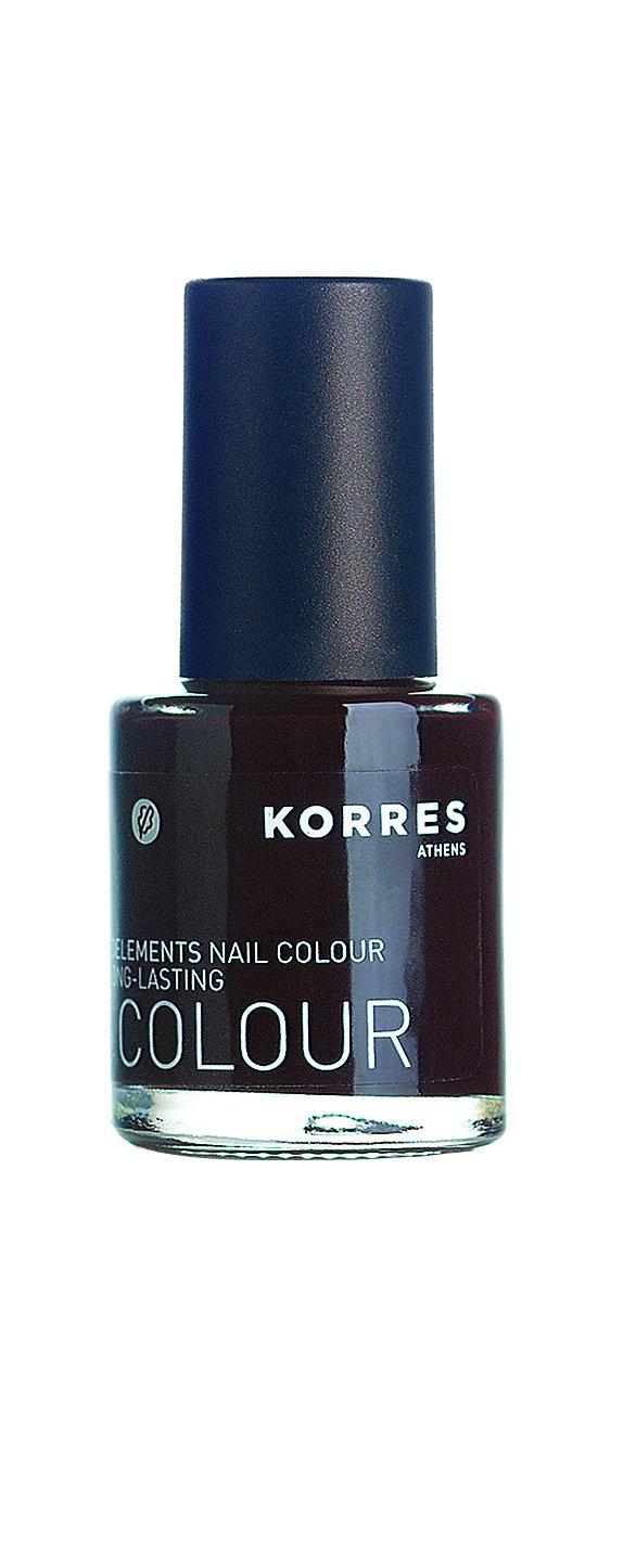 KORRES Nail Colour, Dark Brown 11 ml: Amazon.co.uk: Luxury Beauty