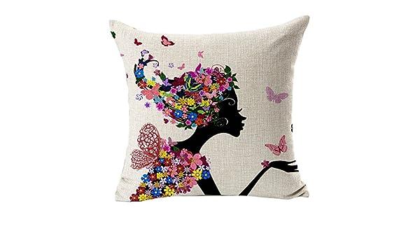 LINSINCH - Funda de cojín Decorativa para sofá, algodón y ...