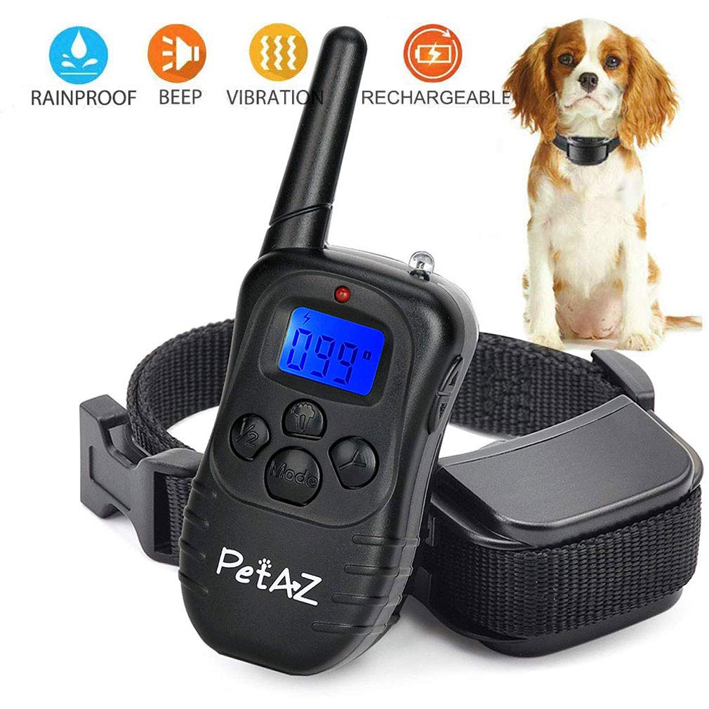 PetAZ Dog Training Collars Electric Dog Shock Collars 330 Yards rang Remote, Rechargeable and Rainproof Beep/Vibration/Shock for Small,Medium,Large Dogs (10-120lbs)...