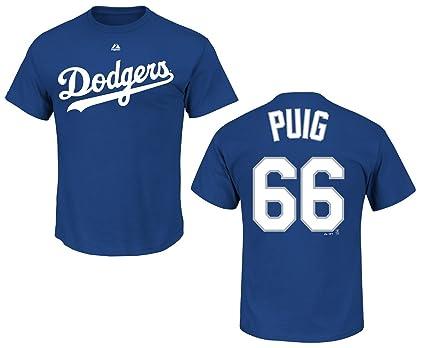 online store c90e8 a1847 Amazon.com : Majestic Yasiel Puig Los Angeles Dodgers Jersey ...