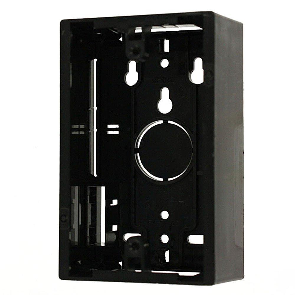 Leviton 42777-1EA Surface Mount Backbox, Single Gang, Black, 1.89''