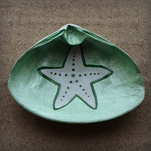 Starfish-Clam-Shell-Dish-Spoon-Rest-Soap-Dish-Jewelry-Holder-Catch-all-Cranberry-Collective