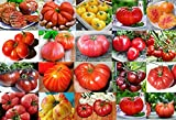 Please Read! This is A Mix!!! 30+ ORGANICALLY Grown Giant Tomato Seeds, Mix of 22 Varieties, Heirloom Non-GMO, Brandywine Black, Red, Yellow & Pink, Mr. Stripey, Old German, Black Krim, from USA