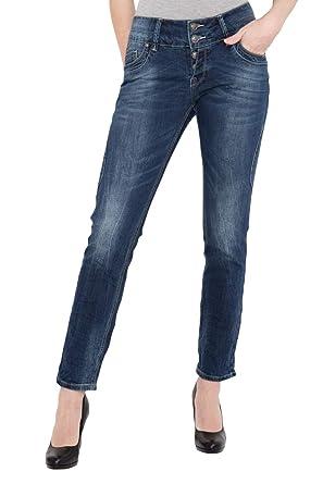 Blue Monkey Damen Jeans mit mittlerer Bundhöhe günstig