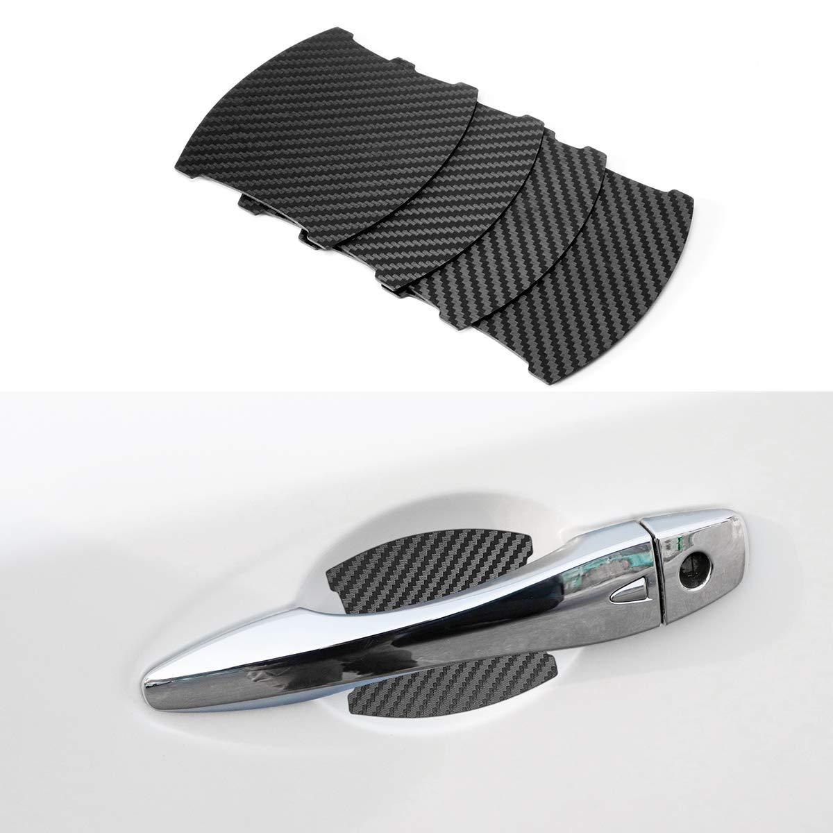 Door Handle Trim Magnetic Door Cup Paint Scratch Protector Cover Accessories for Nissan Pathfinder 4 Pcs