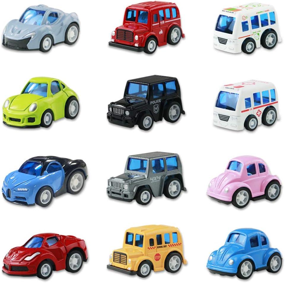 Coches de Juguetes Cars 12 Coches Metalicos Juguete Mini Tire hacia Atrás El Metálic Coche Juguetes Niños 3 4 5 Años