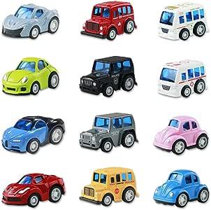 Coches de Juguetes Cars 12 Coches Metalicos Juguete Mini Tire hacia Atrás El Metálic Coche Juguetes Niños 3 4 5 Años: Amazon.es: Juguetes y juegos
