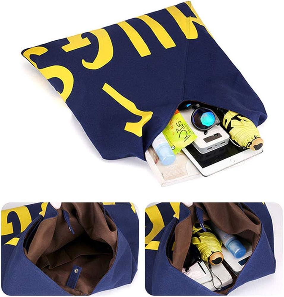 JUNE Womens Backpack Casual Letter Printed Canvas Handbag