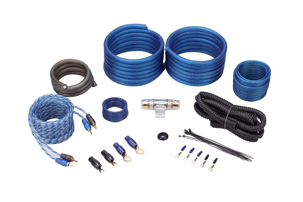amazon com: rockville rwk42 4 gauge 4 chan car amp wiring installation wire  kit (2) rca's: car electronics
