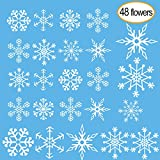 Kuuqa 4 Pieces Christmas Snowflakes Stickers Christmas Window - Best Reviews Guide