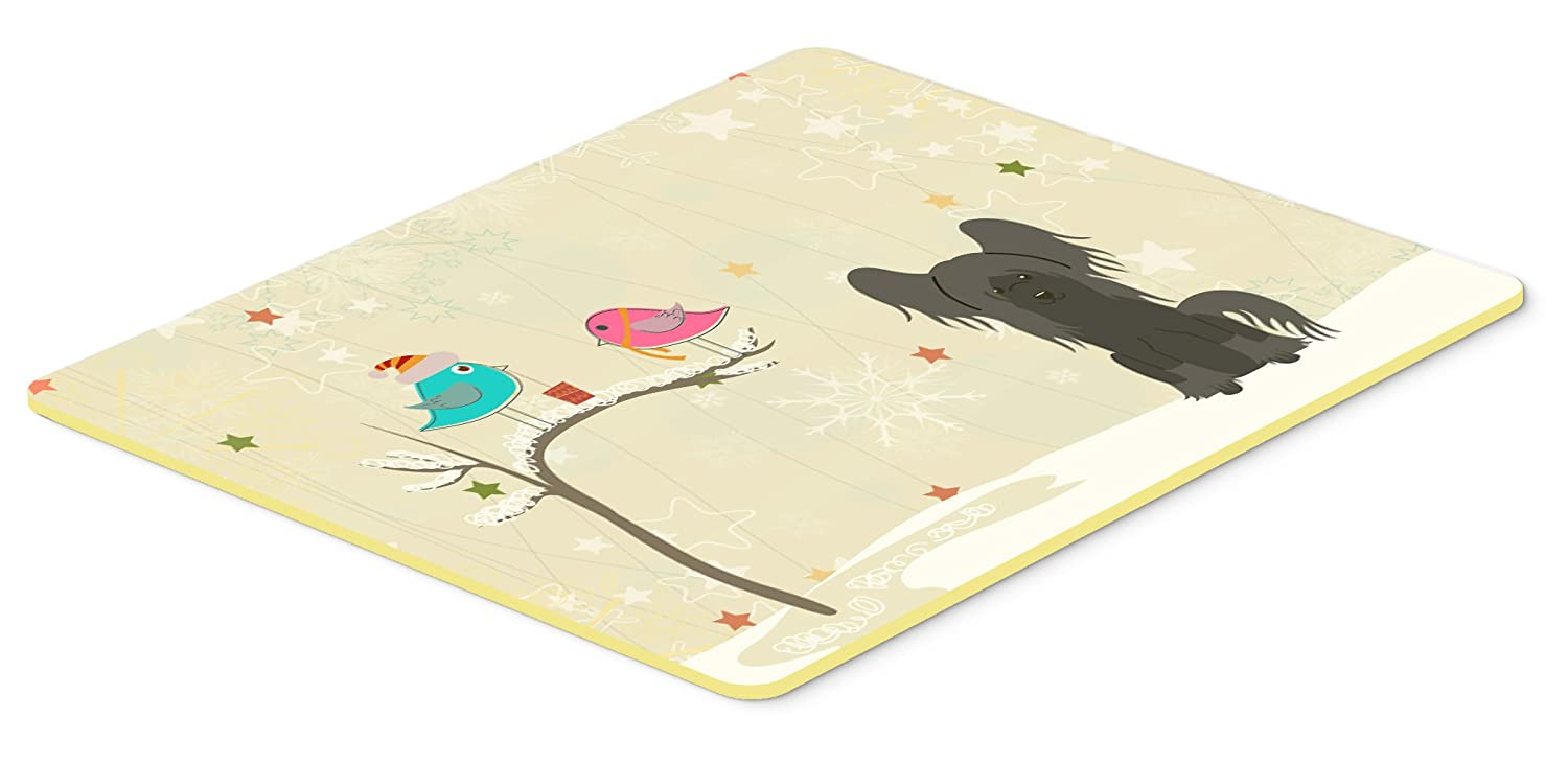 Caroline's Treasures BB2584JCMT Christmas Presents Between Friends Chinese Crested Black Kitchen or Bath Mat, 24' x 36', Multicolor