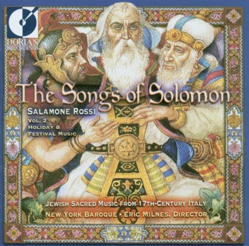 Cover of Songs of Solomon: Jewish Sacred Music 17th Ctry 2