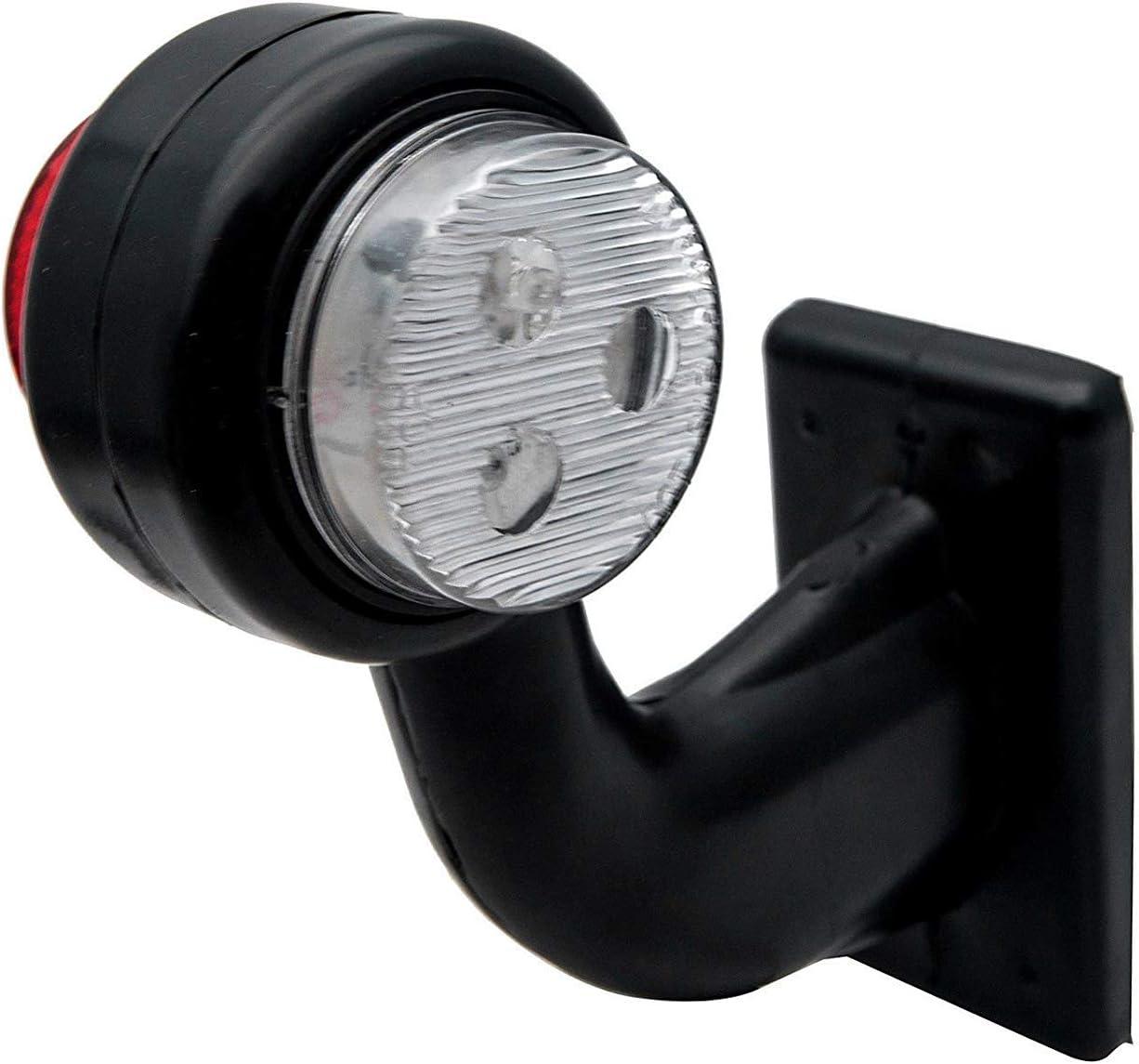 Trailer Marker SUNWAN 2X 8 LED SIDE OUTLINE STALK MARKER LIGHTS LAMP 12V White Red TRAILER TRUCK CARAVAN 20CM-b.12//24V Truck Lorry Trailer Tipper Side Marker Light