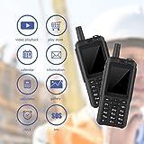 Fosa スマート4Gトランシーバー携帯電話 カメラ、ビデオ再生、カレンダー、電卓、時計、メッセージ、音声通話、SOS機能付き ポータブル2.5インチ3500mAh頑丈な2ウェイハンドヘルドラジオ