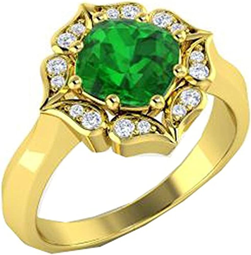 Silverraj Jewels Yellow Gold Plated Simulated Diamond Studded Womens Fashion Ring Jewellery