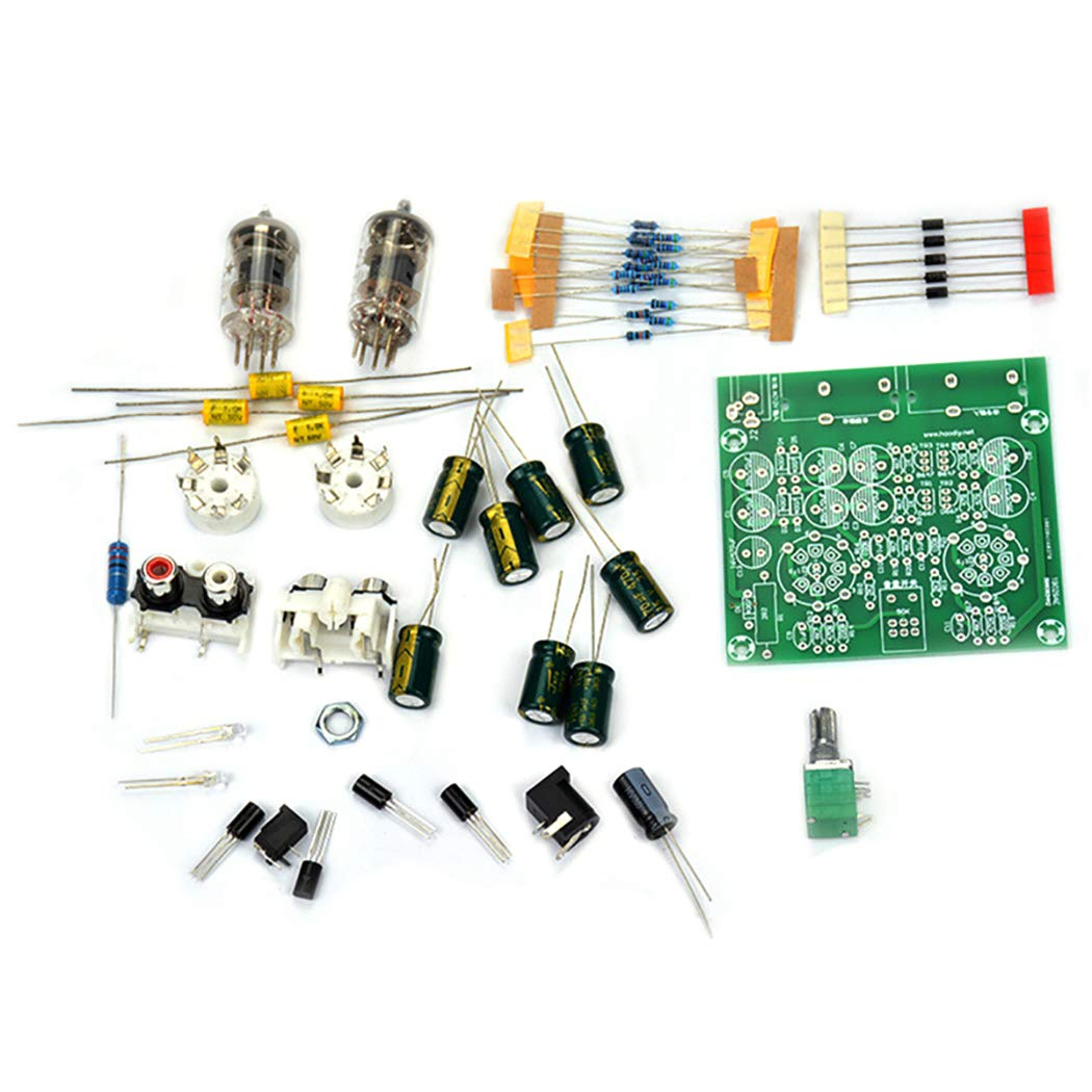 Fansport Tube Amplifier Kit 6J1 Mini Audio HiFi Amplificatore per Cuffie Pre-Amplificatore Stereo