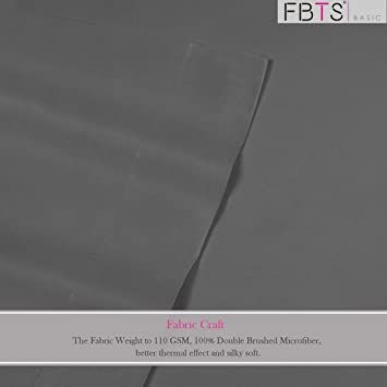 FBTS Basic Bed Sheet Sets Microfiber Sheets Deep Pocket 4 Piece Hypoallergenic (King, Crimson)