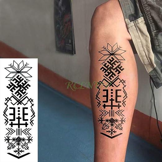 tzxdbh 3Pcs-Etiqueta engomada del Tatuaje Impermeable Taro Lady ...